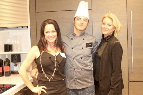 SFLG Lynette Janac with Battle of the Chef winner Chef Chiriatti and Fabienne Corliano